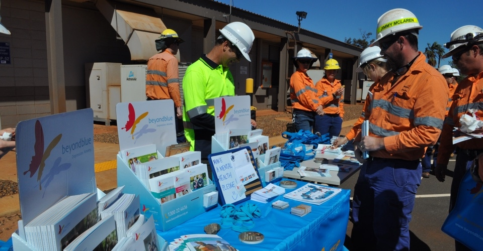 Workers looking at beyondblue support resources